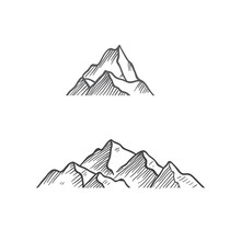 Mountain Vintage Draw Vector I...