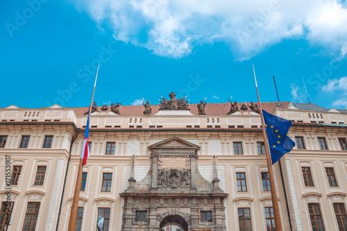 Government building in Prague. Czech Republic, European Union Poster