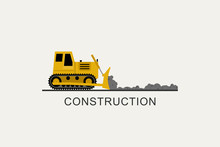 Bulldozer Leveled The Road