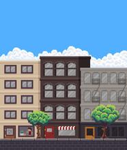 1467886 Pixel Art Street