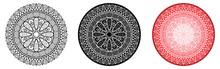 Geometry Mandala With Flower I...