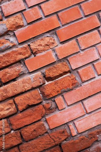 Fototapeta Old red bricks half new
