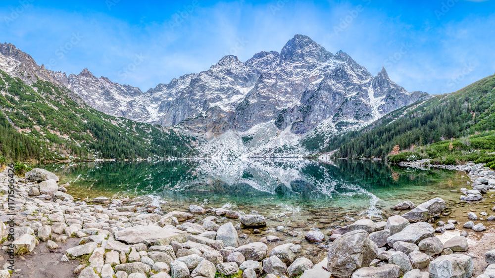 Fototapety, obrazy: Morskie oko, Tatry, Panorama
