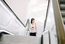 Escalator In The Business Cent...
