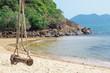 Seesaw on the beach