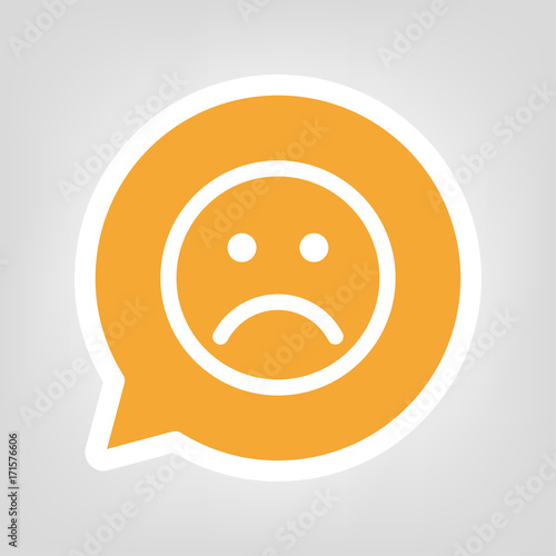 Gelbe Sprechblase Trauriges Gesicht Buy This Stock Vector And