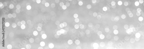 Fotografia silver and white bokeh lights defocused. abstract background