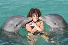 Dolphin Make A Kiss To Human W...
