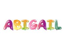 Abigail Girls Name Text Balloons