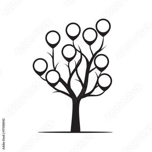 czarny-drzewo-z-granica-wektoru-ilustracja