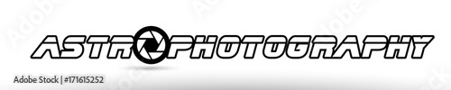 Photo astrophotography astro photography camera aperture text concept logo icon design