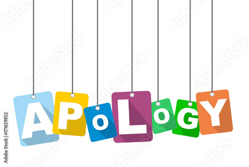 Photo vector illustration background apology