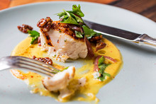 Eaten Grouper Dish With Yellow...