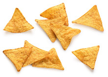 Corn Chips, Nachos Isolated On...