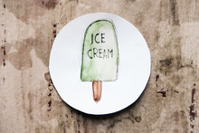 Sketch Of An Ice Cream On Paper