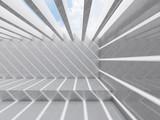 Fototapeta Perspektywa 3d - Room with ceiling illumination 3d