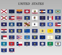 All Flags Of States Of Usa