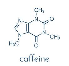 Caffeine Stimulant Molecule. P...