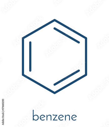 Photo Benzene aromatic hydrocarbon molecule