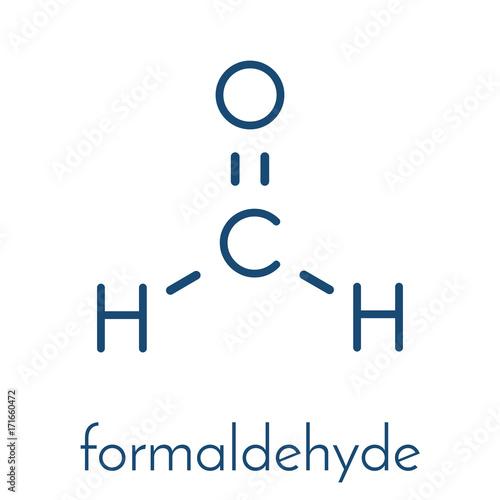 Formaldehyde (methanal) molecule Canvas Print