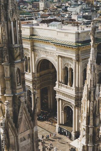 Keuken foto achterwand Berlijn Milano Galleria Vittorio Emanuele II view from Duomo