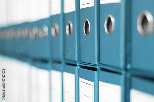 Fotografie, Obraz  Ring Binders, File archive office shelf.