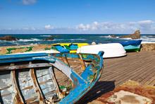 Rowboats In Taganana Coast