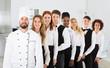 canvas print picture - Portrait Of Restaurant Staff