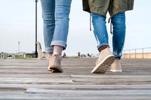 People Walking, Lower Legs Clo...