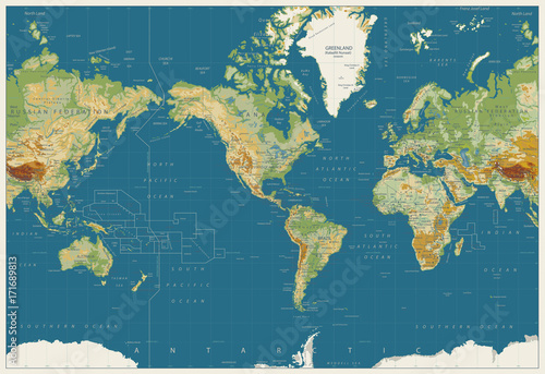 World Map Americas Centered Physical Map. Vintage Colors. No ... on america globe, america google earth, america activities, america text, incorporated territory, america hemisphere, america weather, america national anthem, u.s. county, america logo, america atlas, indian reservation, america acronym, america area, america vector, america city, america continent, america shopping, america attractions, america people, america art, america outline, united states territory, contiguous united states, america water bottle,