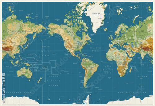Fototapeta mapa świata   amerykanska-mapa-swiata