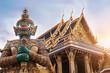 Leinwanddruck Bild - Wat Phra Kaew, Emerald Buddha temple,  Wat Phra Kaew is one of Bangkok's most famous tourist sites