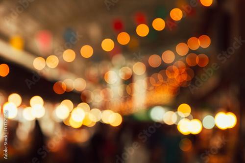 Fototapeta blur night festival light for background obraz