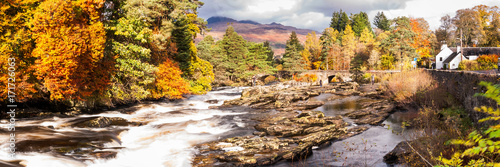 uk, island, destination, loch, white, river, autumn, trees, scenery, scotland, perth, tourist, stirling, rapids, fall, sky, scenic, beautiful, background, water, nature, scottish, landscape, killin,