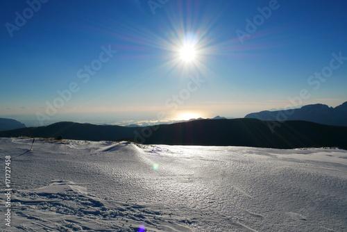 Sole e Neve sul monte Raiamagra (AV) Canvas Print