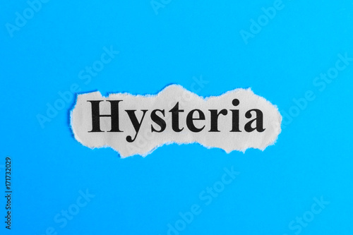 Hysteria text on paper Wallpaper Mural