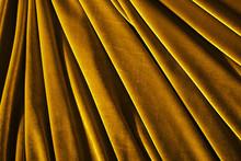 Golden Color Velvet Textile Ph...