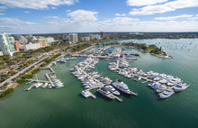 Aerial View Of The Sarasota Do...