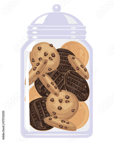 Canvas Print jar of bicuits
