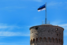 Estonian Flag On Tall Hermann ...