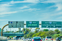 LAX Exit Sign On 105 Freeway