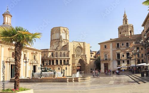 Plaza de la Virgen in Valencia