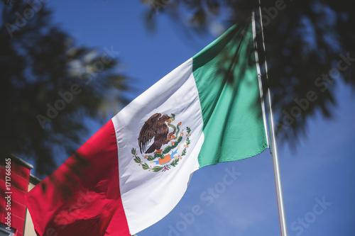 Plakat Flaga meksykańska symbol patriotyczny; Flaga Meksyku symbolem narodowym tego narodu