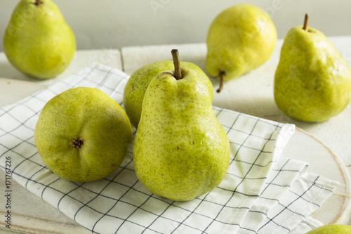 Raw Green Organic Bartlett Pears Wallpaper Mural