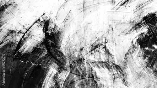 Black And White Artistic Splashes Abstract Beautiful