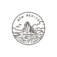 New Mexico. Shiprock