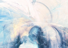 Abstract Beautiful Blue And Wh...