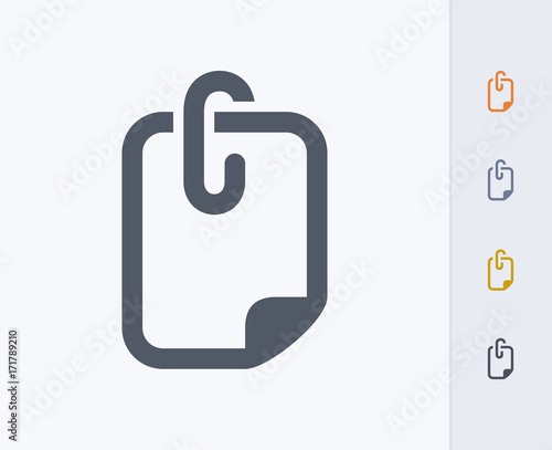 Fotomural File Attachment - Carbon Icons