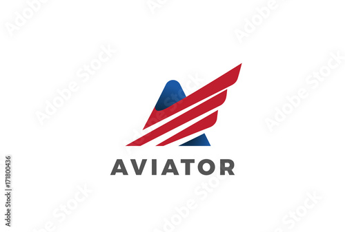 Letter A Wing Logo Vector Usa American Corporate Logotype Icon Buy This Stock Vector And Explore Similar Vectors At Adobe Stock Adobe Stock