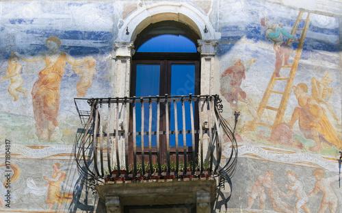 Plakat Freski w sprawie Cazuffi-Rella w Trento